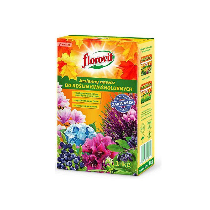Nawóz jesienny do roślin kwaśnolubnych Florovit opakowanie 1 kg