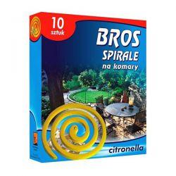 Spirale na komary o zapachu citronella Bros